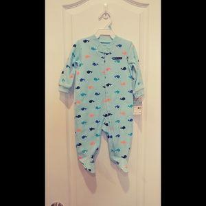 Carter's Blue Whale Footie Pajamas